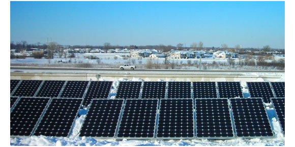 Solar Panels Winter and Snow