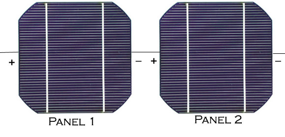 Solar Power Panels in Series Circuits Simple Schematic