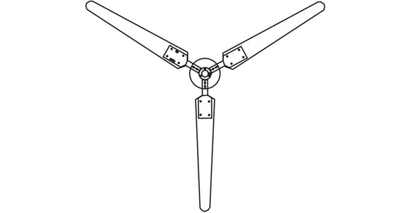 Wind Turbine with 3 Blades Design